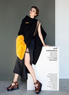 Elle Romania September 2014 | Iulia Cirstea by Dan Beleiu [Fashion]