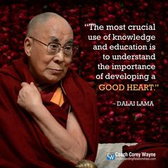 """Photo credit should read SAJJAD HUSSAIN/AFP/Getty Images """"The most crucial use of knowledge and education is to understand the importance of developing a good heart. Dalai Lama, Wisdom Quotes, Me Quotes, Motivational Quotes, Inspirational Quotes, Qoutes, Buddhist Quotes, Spiritual Quotes, Buddha Quote"""