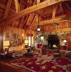 Rustic Mountian Decorating, Lodge look, cabin and ski style