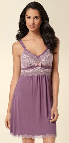 #Soma Endearing Sleep Chemise in Amethyst #SomaIntimates #sleepwear