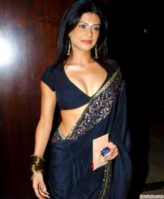Sexy saree and blouse