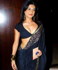 Low cut sari blouse