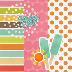 Free Digital Scrapbook Papers Summer   Stay cool this summer with our new free digital scrapbooking kit. It ...