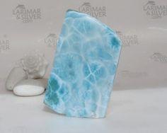 Larimar slab, water blue Larimar stone, turtleback, larimar showcase, blue pectolite, sky blue, healing stone, aquamarine blue - 700.0 ct