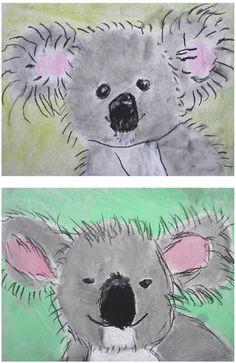 The Rolling Artroom: Pastel Koala Bears Grade) - Kunstunterricht - Zoo Classroom Art Projects, School Art Projects, Art Classroom, First Grade Art, 2nd Grade Art, Kindergarten Art, Preschool Art, Animal Art Projects, Art Lessons Elementary