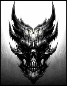 - You are in the right place about (notitle) Tattoo Design And Style Galleries On The Net – Are The - Evil Skull Tattoo, Evil Tattoos, Demon Tattoo, Skull Tattoo Design, Dark Tattoo, Skull Tattoos, Body Art Tattoos, Tattoo Designs, Demon Drawings