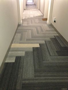 Interface Walk The Plank Carpet Tile Herringbone Corridor