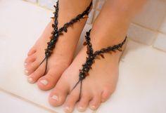 Bare Foot Sandals-micro macrame handmade , micro macrame jewelry, native bohemian tribal boho hippie gypsy jewelry