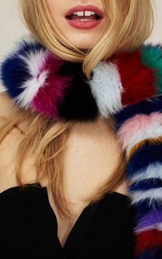Fox Fur Rainbow Twist by Charlotte Simone for Preorder on Moda Operandi