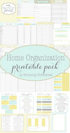 Home Organization Printables DIY Idea