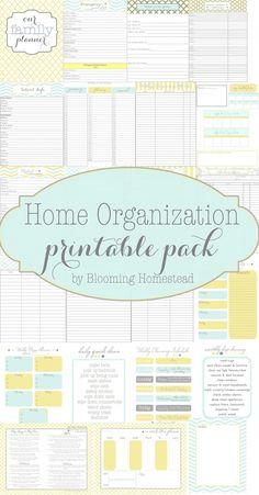 Home Organization Printables DIY Idea