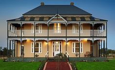 Harkaway Homes - Classic Victorian and Federation Verandah Homes - Gabled Victorian - Pavilion and Homesteads Australia's leading Reproduction Home specialists Country House Plans, Country Style Homes, Dream House Plans, Dream Houses, Australian House Plans, Australian Homes, Australian Architecture, Architecture Design, Victorian Architecture