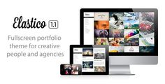Elastico is a unique fullscreen & fully responsive theme, perfect for creative people and agencies. By emphasizing your photos, videos and content, it showcases your work in an amazing way. Easy to manage, it comes also with a fullscreen blog supporting post formats and several custom page templates to spice up your website.