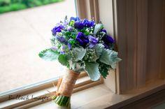 Wedding Flowers   Bridal Bouquets   Centerpieces   Flowers #purpleanenomes #sweetpeas #dustymiller