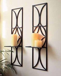 Portavelas de pared diseño rectangular x 2unidades