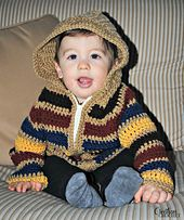 Ravelry: Baby Striped Hoodie pattern by Lorene Haythorn Eppolite- Cre8tion Crochet