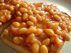 Beans on toast, tasty lunch