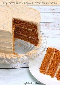 Delicious Scratch Gingerbread Cake Recipe by MyCakeSchool.com