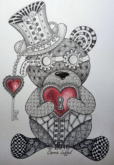 Steampunk bear by Carrie Leffel