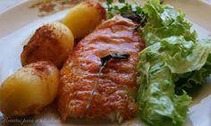 Receitas para a Felicidade!: Red Fish no Forno com Batatinhas Portuguese Recipes, Baked Potato, Goodies, Baking, Ethnic Recipes, Baby Potatoes, Oven, Dishes, Recipes