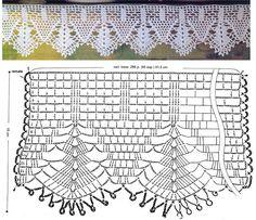 Risultati immagini per miria croches e pinturas Motif Bikini Crochet, Crochet Lace Edging, Crochet Borders, Crochet Diagram, Crochet Stitches Patterns, Crochet Chart, Crochet Trim, Crochet Doilies, Easy Crochet