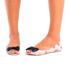 Iron Fist ~ Black Sheep Peep Toe Flat - Footwear