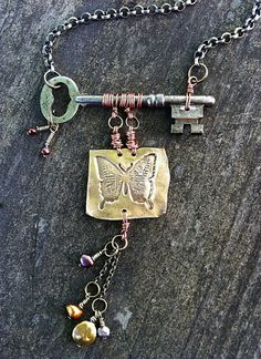 Skeleton key..I would have to see how this lays on the neck. Like the bones of this...pun intended...:)
