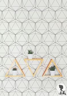 Geometric Wallpaper / Regular or Removable by LivettesKIDS on Etsy