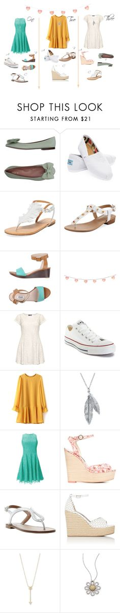 """""""Which to wear to my pool party"""" by etsyshopgirl on Polyvore featuring RED Valentino, TOMS, Corso Como, Neiman Marcus, Clarks, Dorothy Perkins, Converse, Nina B, Shoshanna and Sophia Webster"""