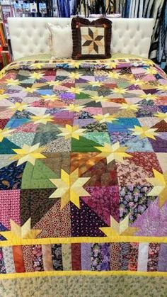 Eye-popping fun quilts - kindly visit our write-up for way more suggestions! Eye-popping fun quilts - kindly visit our write-up for way more suggestions! Jellyroll Quilts, Patchwork Quilting, Scrappy Quilts, Easy Quilts, Hand Quilting, Bright Quilts, Colorful Quilts, Star Quilt Blocks, Star Quilts