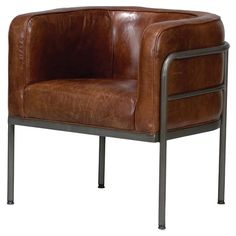 Brenda Leather Accent Chair - Inside the Studio on Joss & Main