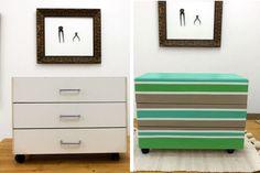 Genial idea para renovar muebles! :)