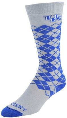 Mojo Men's Mojo Kentucky Wildcats Argyle Socks