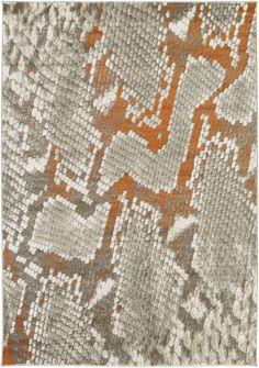 Surya Jax JAX5019 Orange/Grey Animal Area Rug