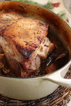 Slow Roasted Pork with Sauerkraut, Fennel and Apples | The Suburban Soapbox #porkandsauerkraut #slowcooker