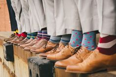 Groomsmen socks at Collin  Christy's Wedding photos shot by Hitch and Sparrow Wedding Co. #groomsman #gift #socks
