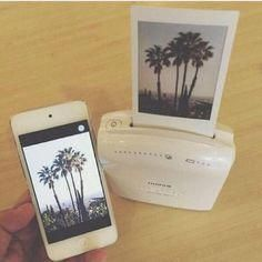 Photography technology phone home accessory phone cover poloroid selfies photography printer cute palm tree print camera Iphone Printer, Polaroid Printer, Smartphone Printer, Polaroid Cameras, Instax Printer, Fujifilm Polaroid, Coque Iphone, Iphone 4, Iphone Cases