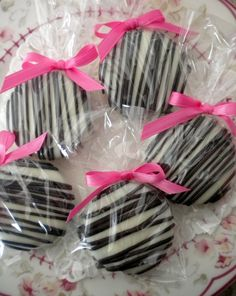 Pink Zebra Chocolate Covered Oreo Cookies Pink And Black Edible Party Favors Sweet 16 Baby Shower Wedding Favors Bridal Shower