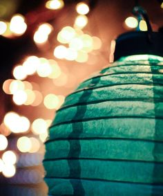 lampion Bean Garden, Terrazzo, Night Time, Color Splash, Indoor Outdoor, Lanterns, Blue Green, Beans, Colours