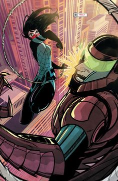 """superheroesincolor: """"Silk #1 (2015) Story: Robbie Thompson, art: Stacey Lee. Silk (Cindy Moon) (submitted by undare) """""""