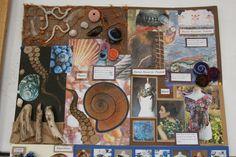 MORRISONS ACADEMY HIGHER DESIGN RESEARCH Textiles Sketchbook, Gcse Art Sketchbook, Sketchbook Ideas, Ed Design, Design Basics, Collages, Body Adornment, Sculpture Art, Sculptures