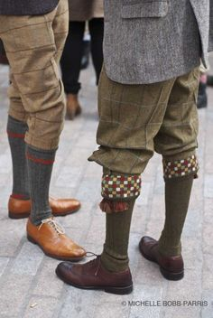 Plus fours and fancy socks