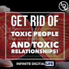 Get rid of toxic people and toxic relationships!  Double tap if you agree! Tag your friends who need to see this!  Follow me for more inspiration and motivation!  @infinite_digital_life  @infinite_digital_life