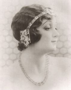 Headpieces, vintage :Cartier (?) Headband 1920's