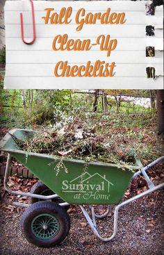 Fall Garden Clean-Up Checklist