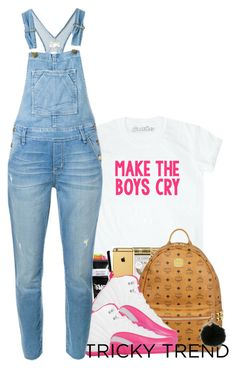 """""""Tricky trend: Overalls """" by princess-alexis18 ❤ liked on Polyvore featuring MCM, NIKE, Current/Elliott, MICHAEL Michael Kors, TrickyTrend and overalls"""