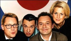 Shooting Stars ~ the original line-up, Vi Reeves, team captain and 50's throwback, Mark Lamarr!, Bob Mortimer and team captain Ulrika Jonsson). There was a pilot of the Reeves & Mortimer panel show in 1993, then it returned in 1995-2011 (when it was axed by the BBC :/)
