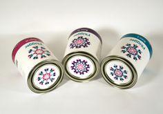 Paint packaging by Mari Grafsrønningen, via Behance