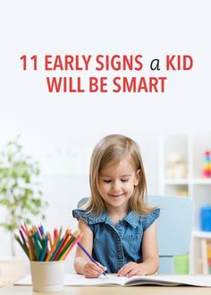 signs your kid will be smart