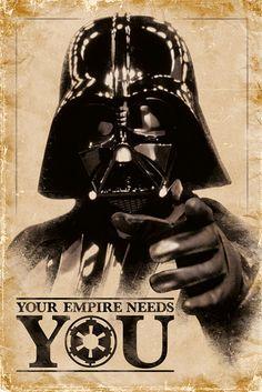 Poster: Star Wars - your empire needs you online te koop. Bestel je poster, je 3d filmposter of soortgelijk product Maxi Poster